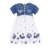 Φόρεμα Ebita jean λευκό