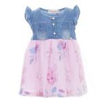 Φόρεμα Ebita jean ροζ ριγέ