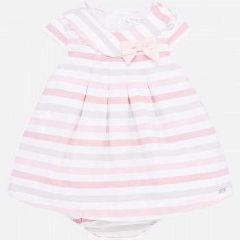 Φόρεμα Mayoral ροζ ρίγες