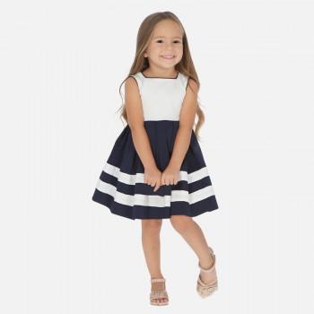 Φόρεμα Mayoral μαρέν και λευκό
