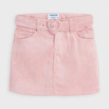 Φούστα Mayoral ροζ κοτλέ