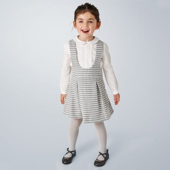 Σύνολο Mayoral λευκό-καρό με φούστα