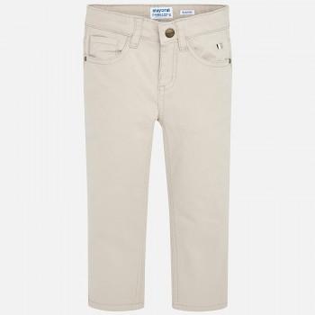 Παντελόνι Mayora slim fit μπεζ