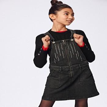 Σαλοπέτα Mayoral μαύρο jean φούστα