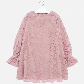 Φόρεμα Mayoral ροζ δαντέλα