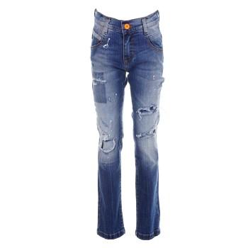 Παντελόνι Gang τζιν μπλε με μπαλώματα