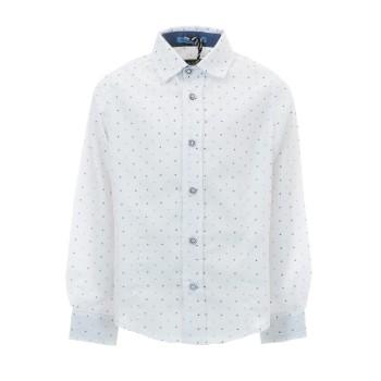 Πουκάμισο Gang λευκό με μπλε μοτίβα