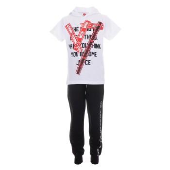Φόρμα Joyce ''strong'' λευκό-μαύρο