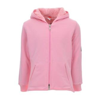 Ζακέτα Joyce ροζ με γούνα