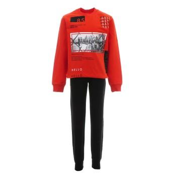 Φόρμα Joyce κόκκινο-μαύρο φθινοπωρινή