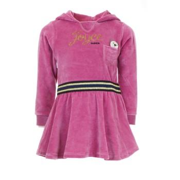 Φόρεμα Joyce ροζ βελουτέ