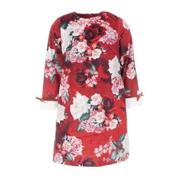 Φόρεμα Ebita μπορντώ floral