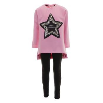 Σύνολο Ebita ροζ-μαύρο