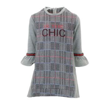 Φόρεμα Ebita γκρί-καρό