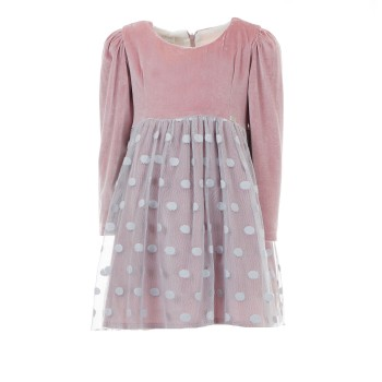 Φόρεμα Ebita ροζ βελούδο