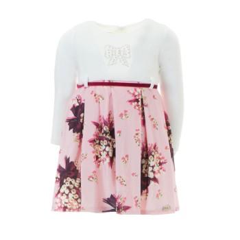 Φόρεμα Ebita εκρού-ροζ floral