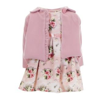 Φόρεμα Ebita με επανοφώρι ροζ φλοράλ