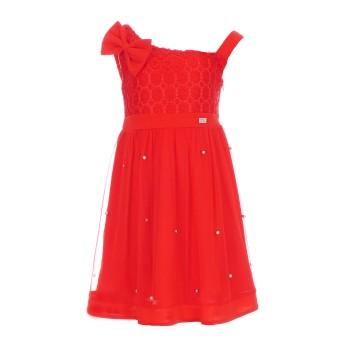 Φόρεμα Ebita κόκκινο με πέρλες