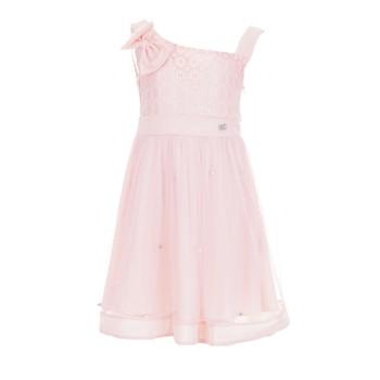 Φόρεμα Ebita σομόν με πέρλες