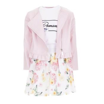 Σύνολο Ebita 3τμχ.ροζ floral φούστα
