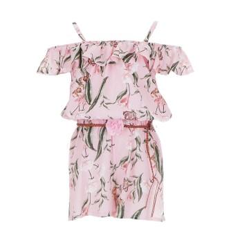 Ολόσωμη φόρμα ροζ floral Ebita