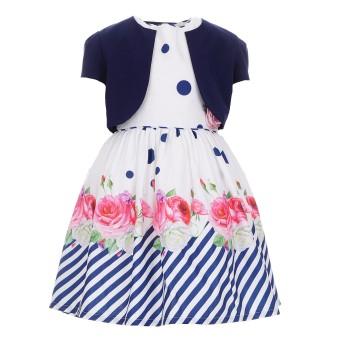 Φόρεμα Ebita λευκό-μαρέν μπολερό