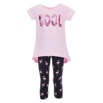 Σύνολο Ebita ροζ-μαύρο κολάν