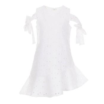 Φόρεμα Ebita λευκό γκιπούρ