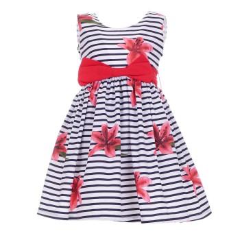 Φόρεμα Ebita ριγέ μαρέν