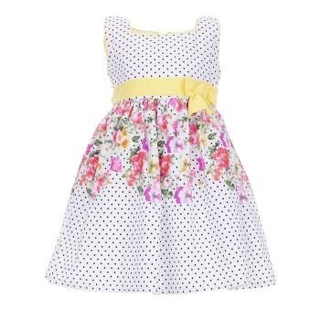 Φόρεμα Ebita λευκό πουά