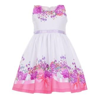 Φόρεμα Ebita λευκό-μωβ