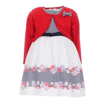 Φόρεμα Ebita με μπολερό ριγέ- floral