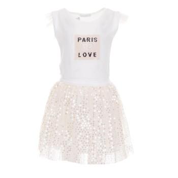 Σύνολο Ebita λευκό-σομόν φούστα