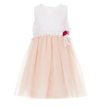 Φόρεμα Ebita λευκό σομόν