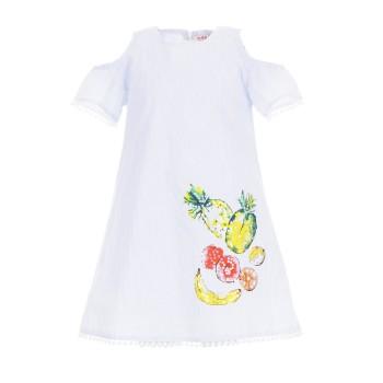 Φόρεμα Ebita σιελ ριγέ