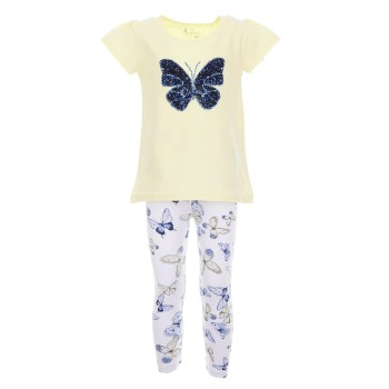 Σύνολο Ebita κίτρινη πεταλούδα
