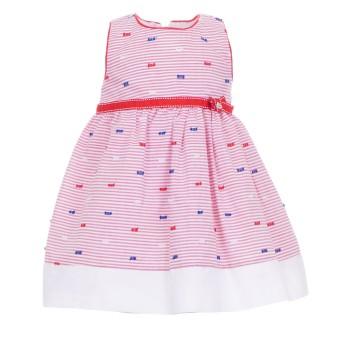 Φόρεμα Ebita κόκκινο ριγέ