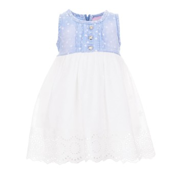 Φόρεμα Ebita jean λευκό γκιπούρ