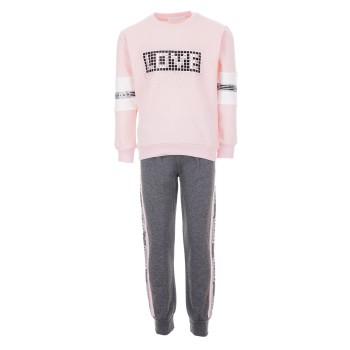 Φόρμα Ebita ροζ-γκρι
