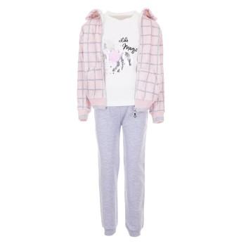 Φόρμα Ebita 3τμχ ζακέτα ροζ