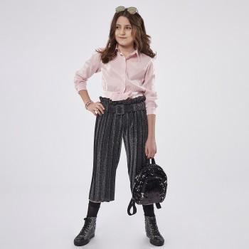 Σύνολο Ebita ροζ-μαύρο παντελόνα λούρεξ