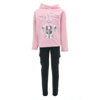 Φόρμα Ebita ροζ-μαύρο