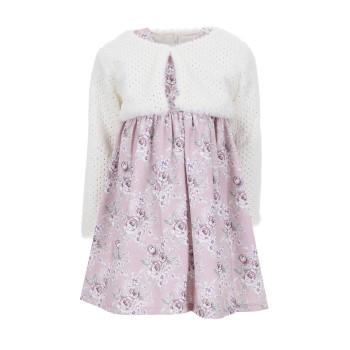 Φόρεμα Ebita λιλά με μπολερό