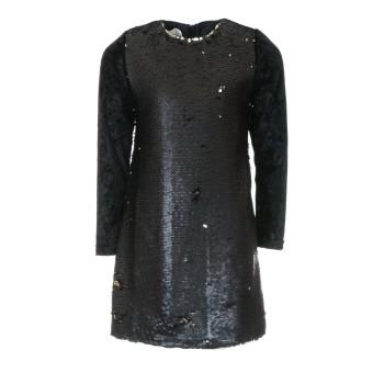 Φόρεμα M&B fashion μαύρο πούλιες