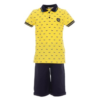 Σλυνολο Hashtag κίτρινο-μαρέν