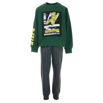 Φόρμα Sprint φούτερ πράσινο-ανθρακί