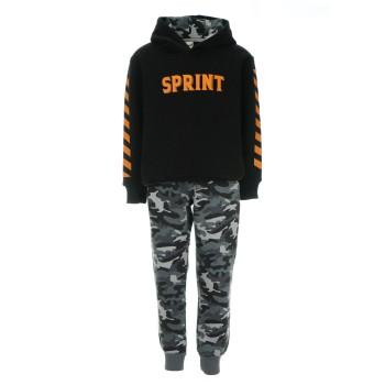 Φόρμα Sprint μαύρο- army