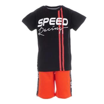 Σετ Sprint μαύρο-κόκκινη βερμούδα