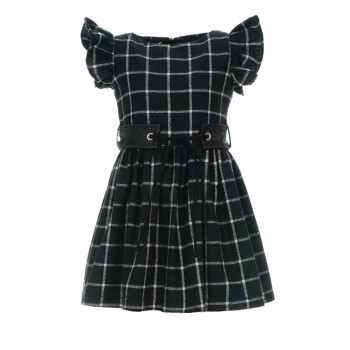 Φόρεμα Alice μαύρο καρό