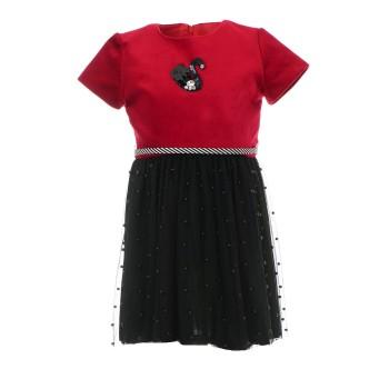 Φόρεμα Glous μπορντώ-μαύρο